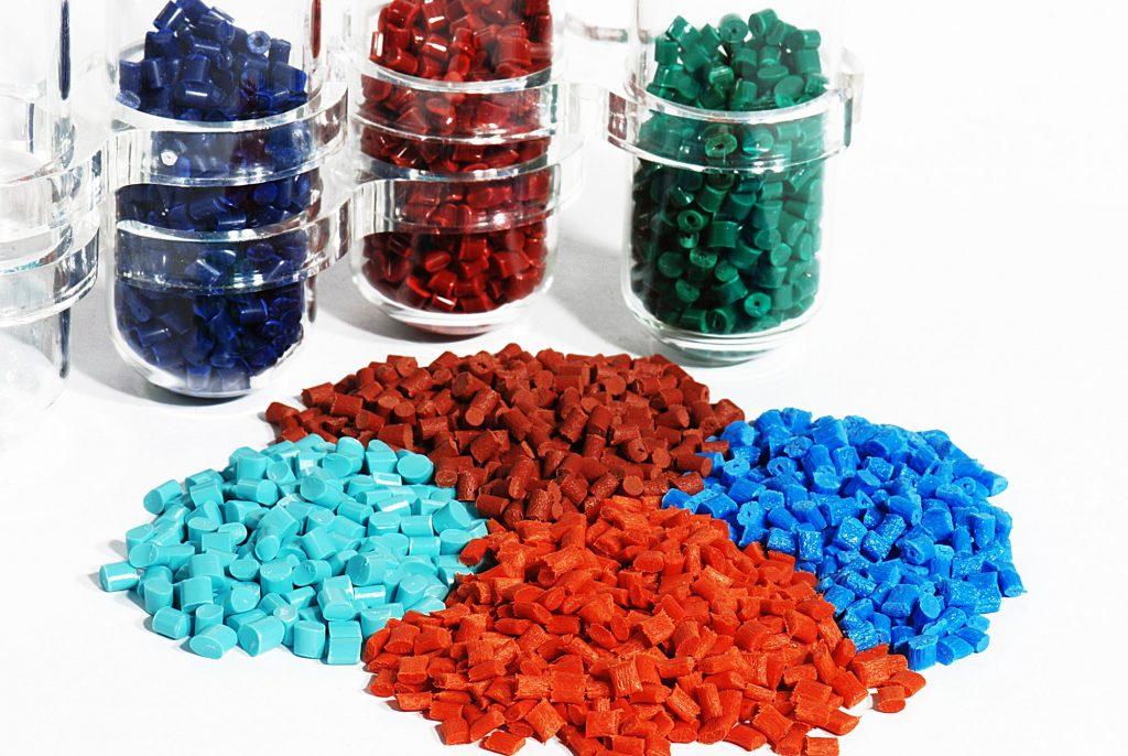 pastilles en plastique