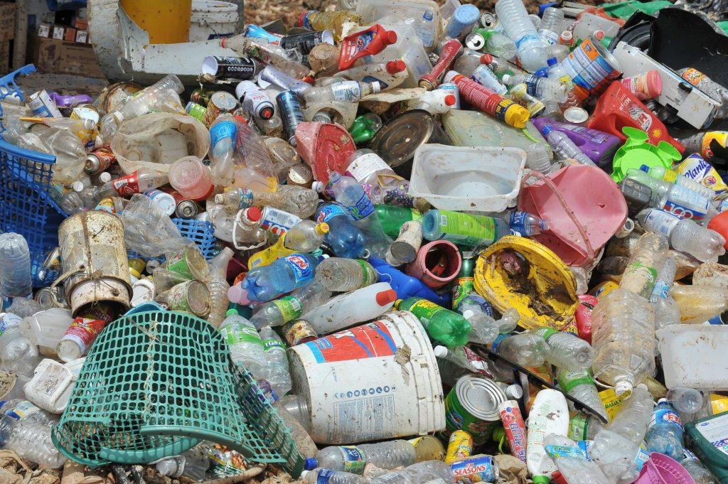 décharge de déchets plastiques