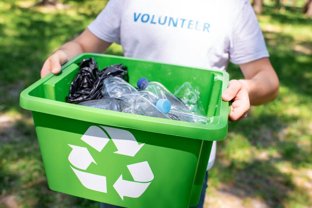 Recycling-Kunststoff-Menge