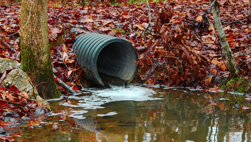 pollution des eaux usées