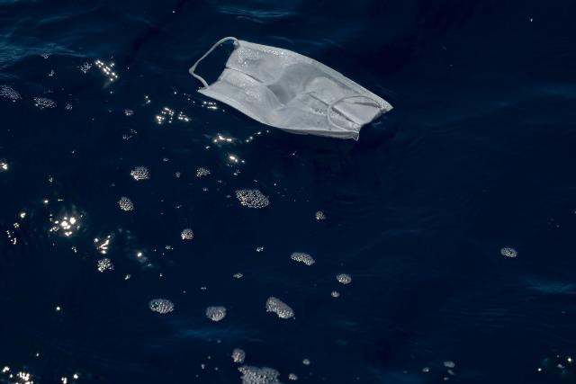 mask in ocean